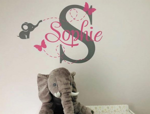 Customized Baby Elephant Wall Decal