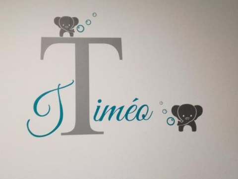 Image of Customized Baby Elephant Wall Decal