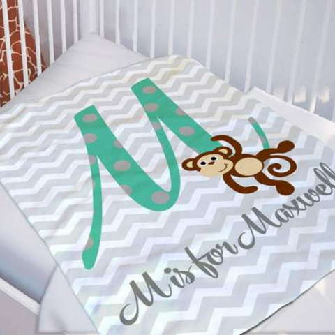 Image of Sweet Personalized Baby Blanket
