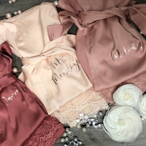 Image of Chic Customized Satin Robe