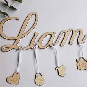 Customized Newborn Wooden Display Sign