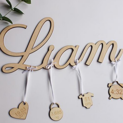 Image of Customized Newborn Wooden Display Sign