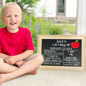 Customized Ruler Design Chalkboard