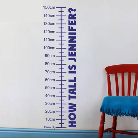 Image of Personalized Growth Chart Wall Decal