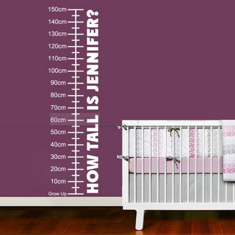 Personalized Growth Chart Wall Decal