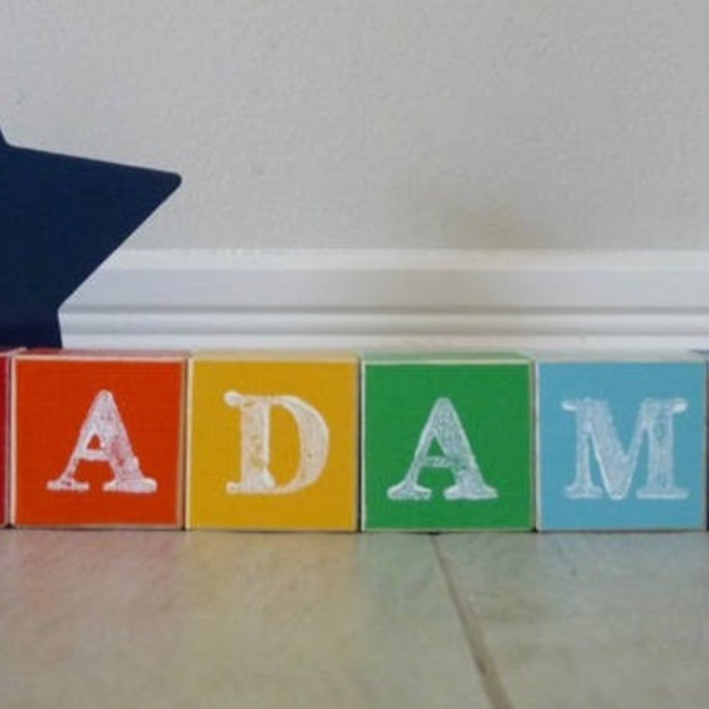Personalised Colorful Wooden Name Building Blocks