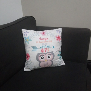 Adorable Customized Owl Pillow Cover