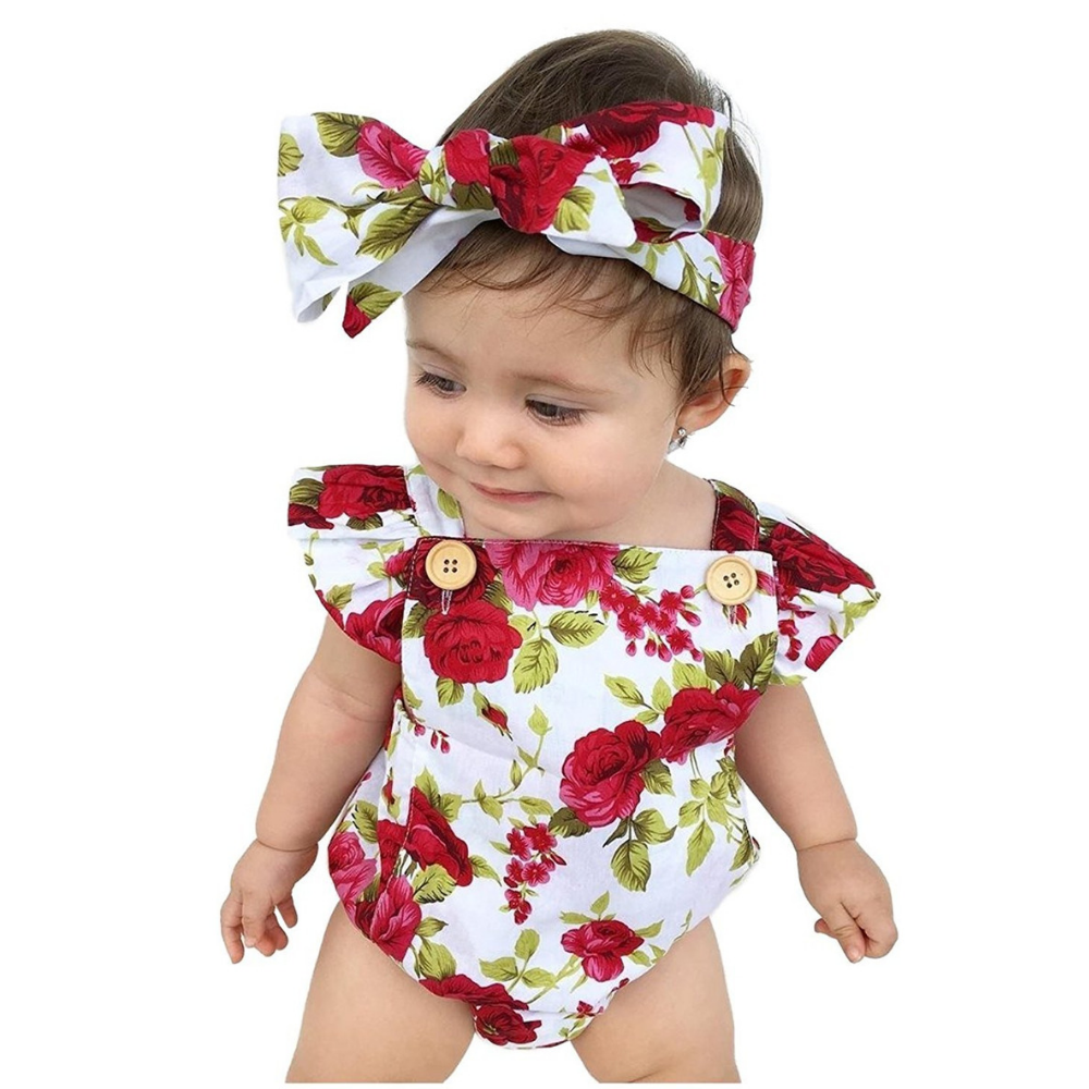 Lovely Floral Onesie Set