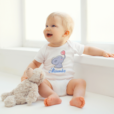 Personalized Elephant Organic Onesie by Toddler Inc