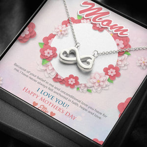Till The End of Time Necklace + Personalized Message Card