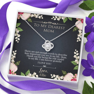 Forever Grateful Necklace + Personalized Message Card