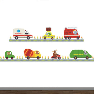 Adorable Cartoon Cars Wall Decal