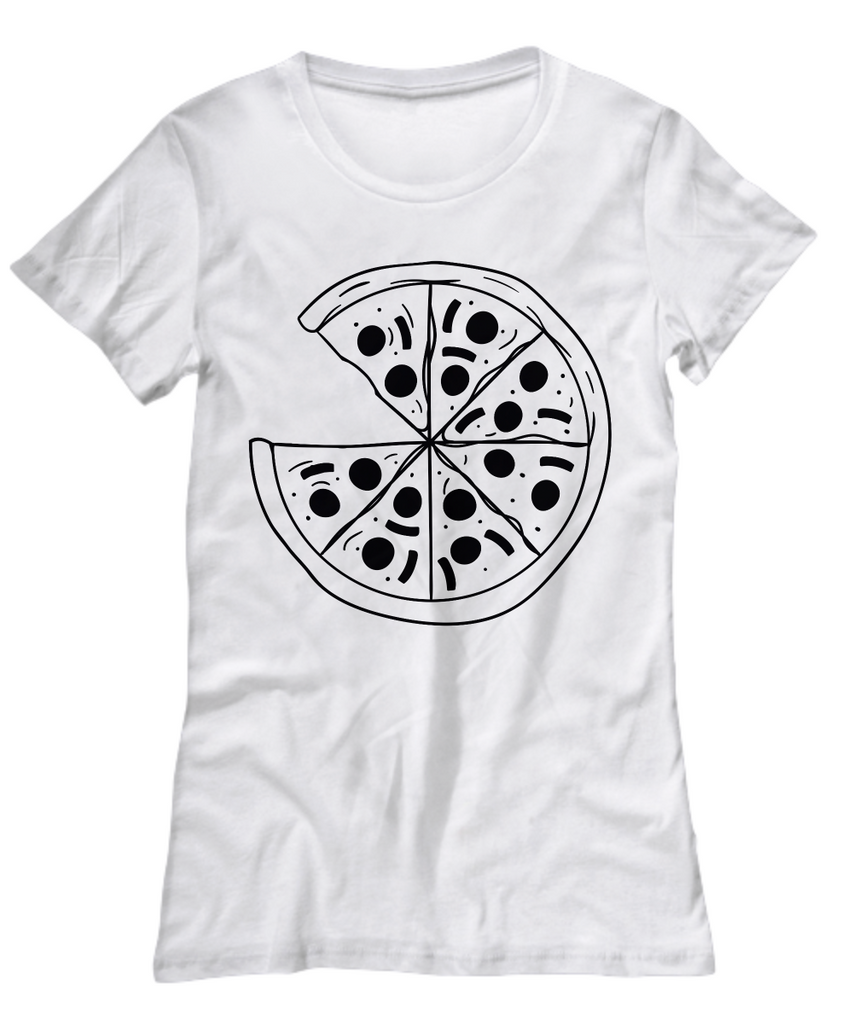 Pizza Patterned Women's Tee by Toddler Inc