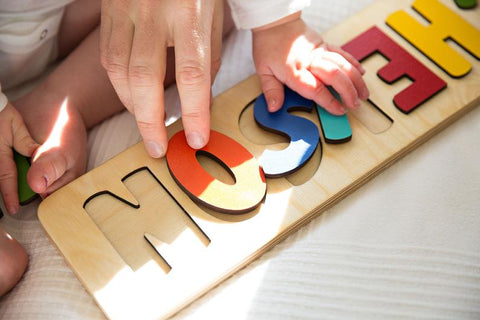 Personalized Colorful Wooden Name Puzzle