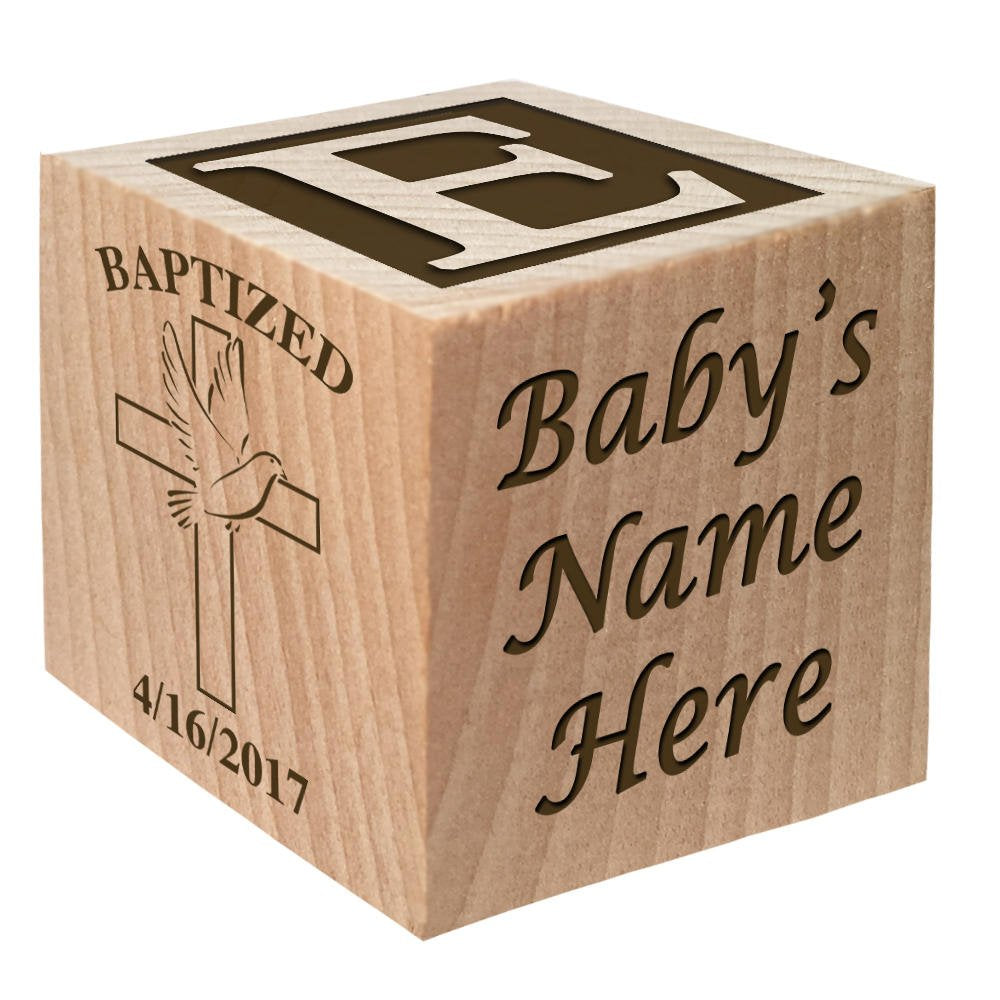 Personalized Baptism Gift Block