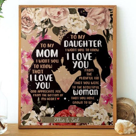 To My Mom/To My Daughter Personalized Poster