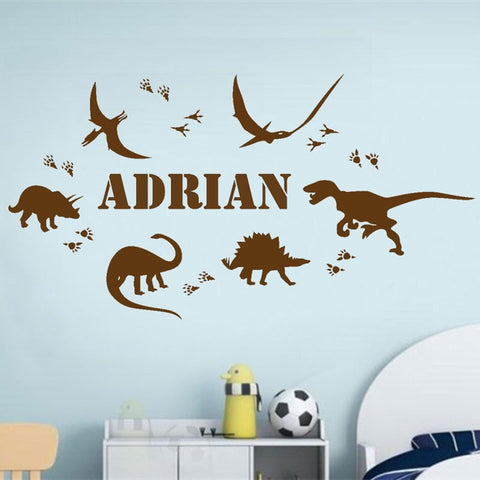 Personalized Dinosaur Wall Sticker