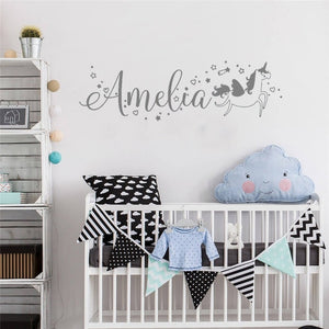 Personalized Unicorn Name Decal