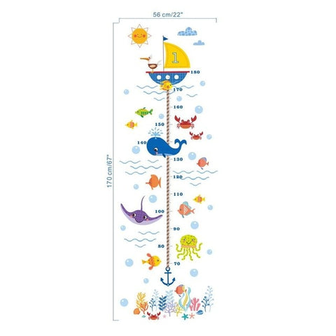 Image of Underwater Growth Chart Wall Sticker