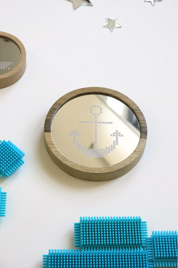 Anchor Cross Stitch Mirror