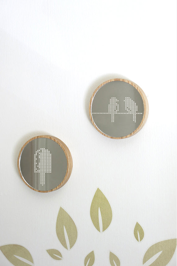 Birds Cross Stitch Mirror