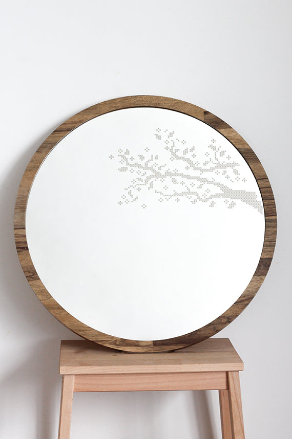 Branches Cross Stitch Mirror