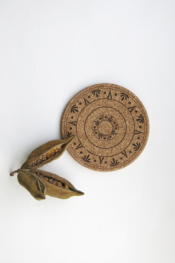 Burned  Cork Trivet