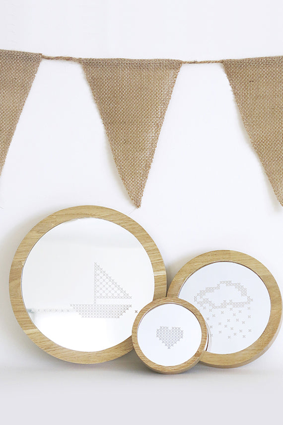 Cross Stitch Mirrors Set