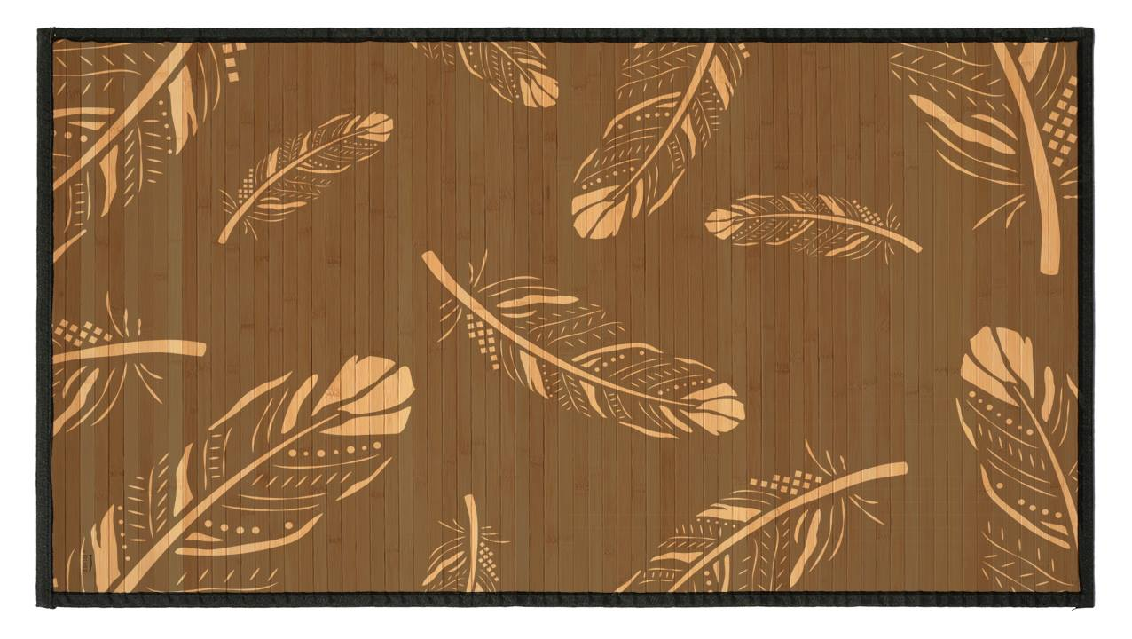 Feathers Dark Bamboo mat