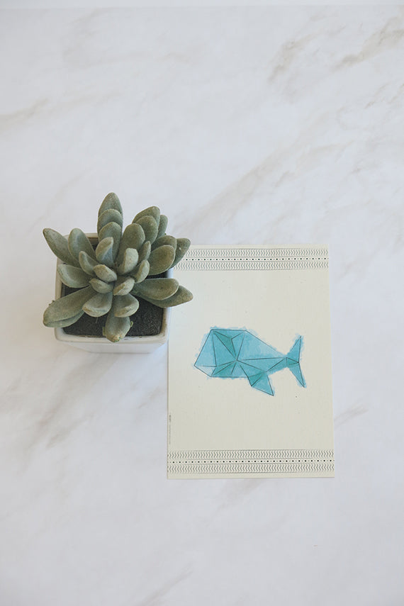 Fish  WaterColor Postcard