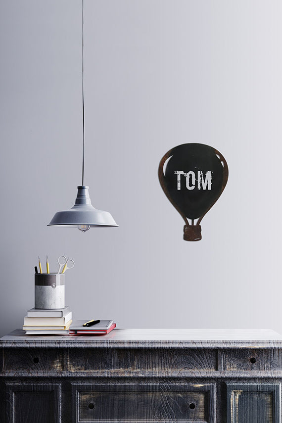 hot air ballon chalkboard