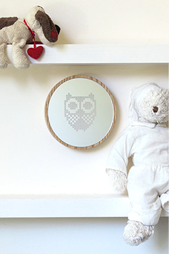 Owl Cross Stitch Mirror