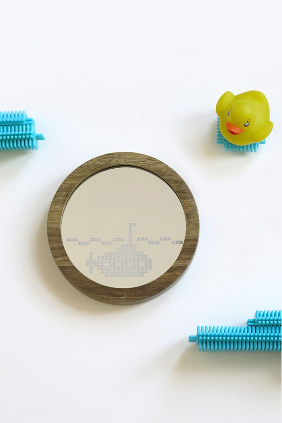 Submarine Cross Stitch Mirror