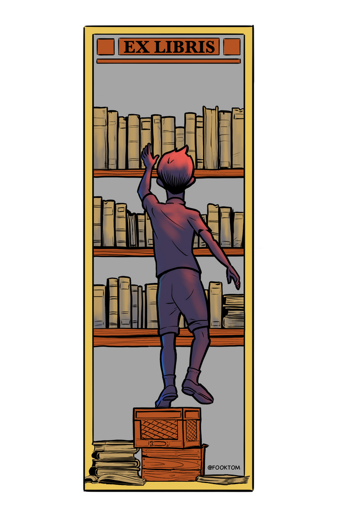Free Ex Libris Love Bookmark To Color as You Shelter In Place!