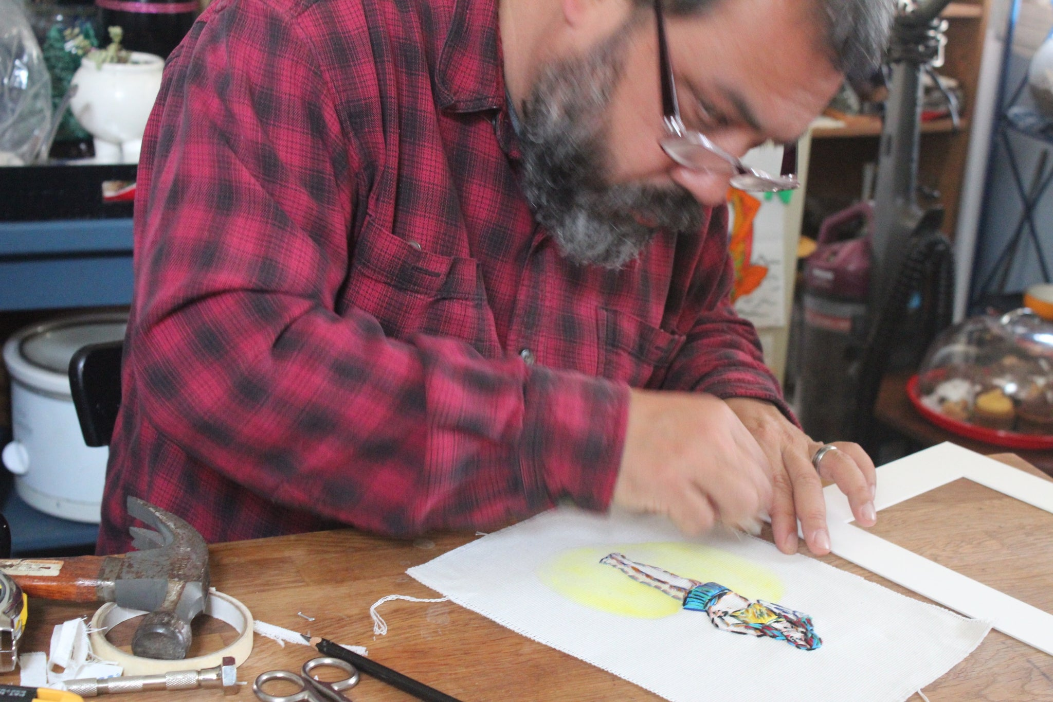 Portrait of Artist's at Work - Jim Tom of Tickle and Smash