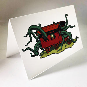 When the Stars are Right Tentacle Greeting Card