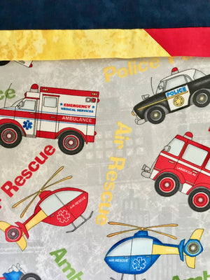 Emergency Hero Pillow Case - Standard Set of 2 - Ambulance, Fire Men and Air Support