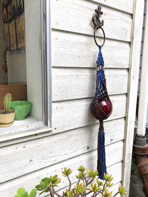 Tickle And Smash Macrame plant hanger indoor garden home decor bohemian rope knots  fiber art