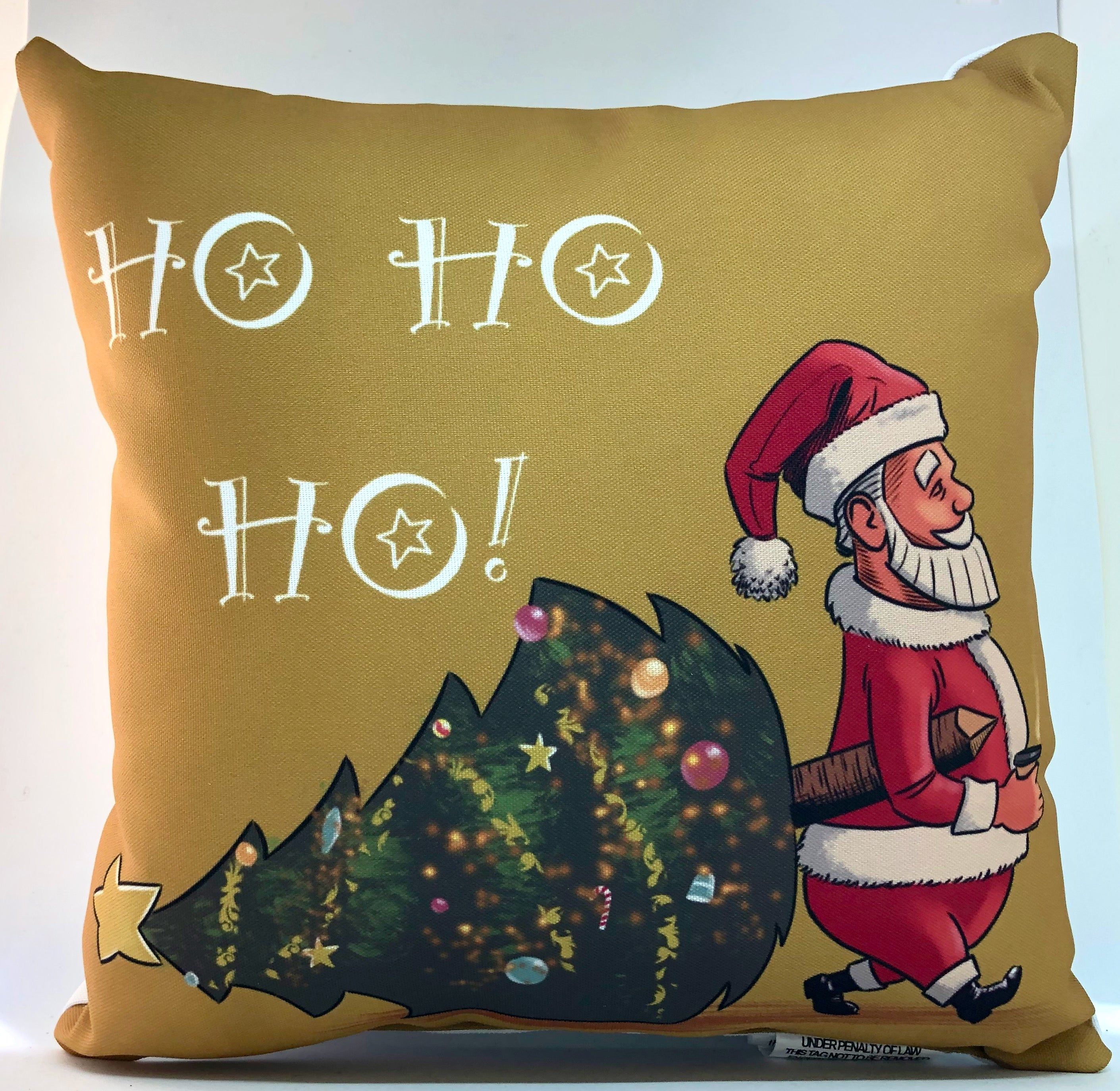 santa latte pillow home decor tickle and smash