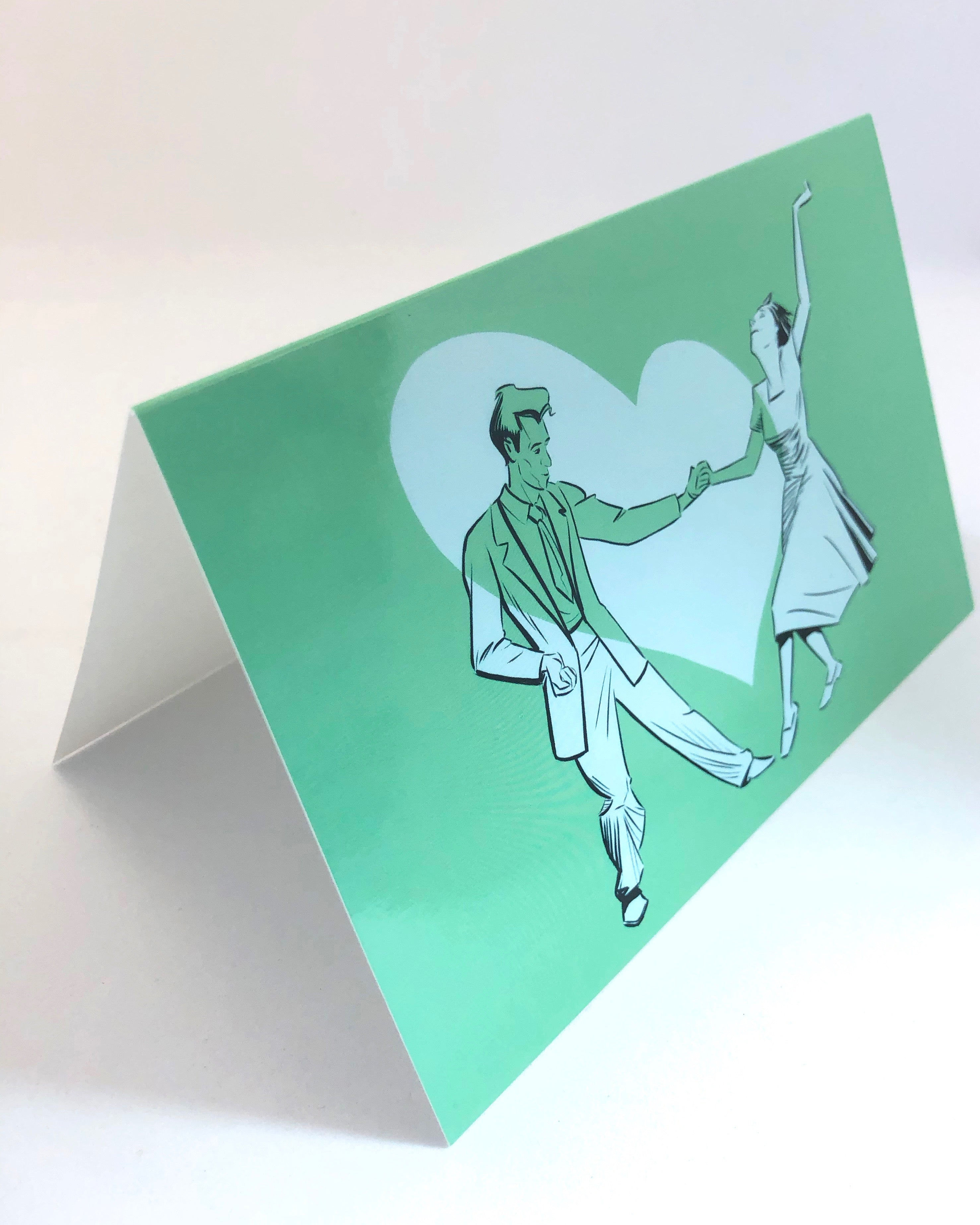 You Lead I Follow - The Swing Greeting Card from Jim Tom from Tickle And Smash