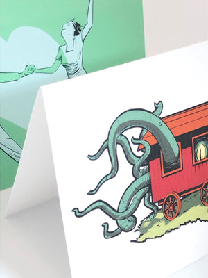 When the Stars are Right Tentacle Greeting Card from Jim Tom for Tickle And Smash