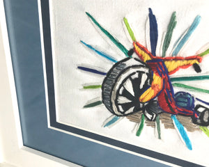 Embroidered Big Wheel Toy Art of Your Childhood Memories by tickle and smash