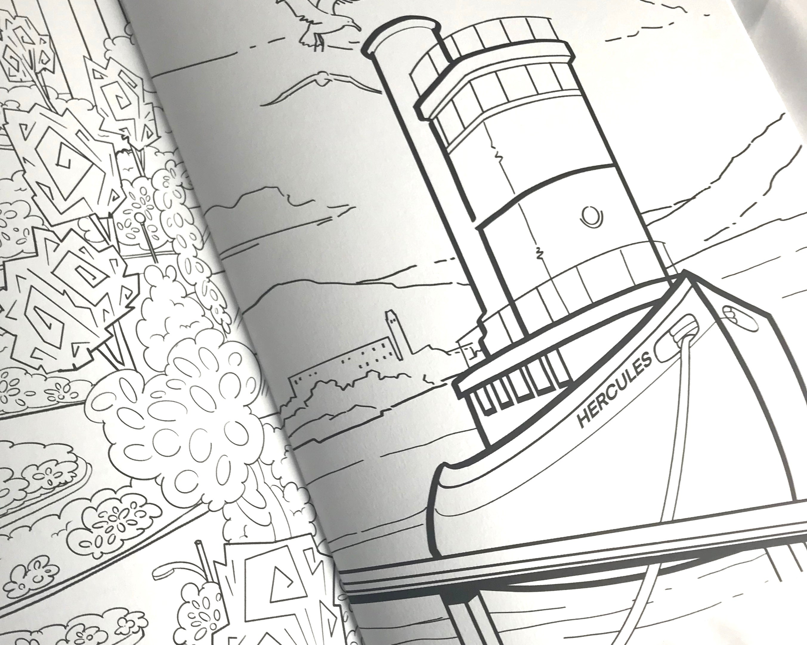 San Francisco Bay Area Inspired SFETSY Coloring Book 1st Edition