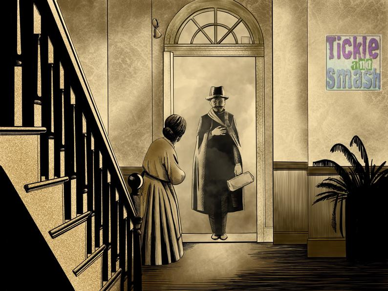 The Lodger,  A Story of the London Fog.  Ripper Greeting Card