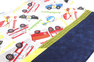 Emergency Hero Pillow Case - Standard Set of two - Ambulance, Fire Men and Air Support by Suzanne Leonhart for Tickle And Smash