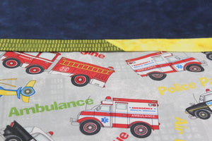 detail Emergency Hero Pillow Case - Standard Set of two - Ambulance, Fire Men and Air Support by Suzanne Leonhart for Tickle And Smash