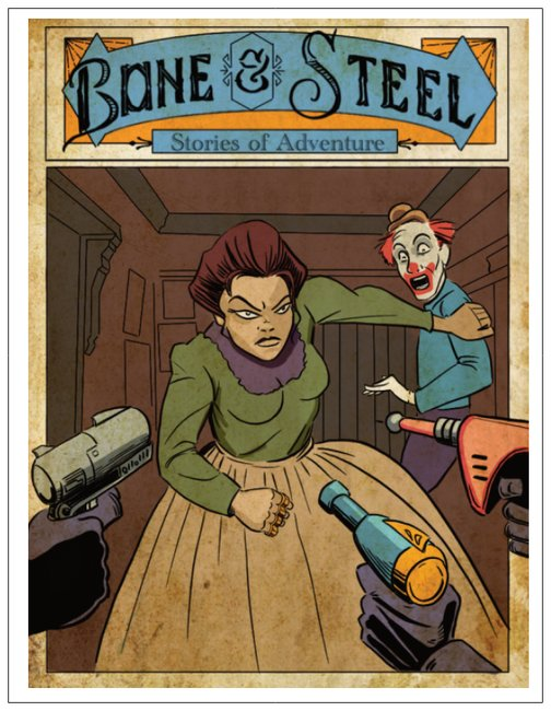 Cowgirl Hero Card Bone And Steel Stories of Adventure, Bad Clown Greetings