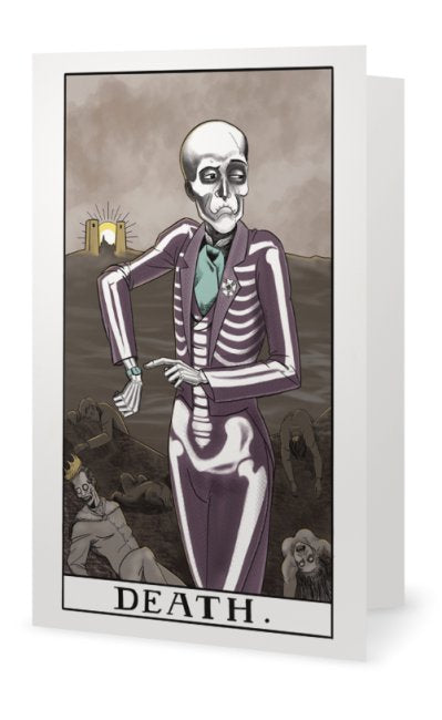 Death Tarot Greeting Card - Mystic Cards, Occult Cards, Dark Cards, Macabre Cards