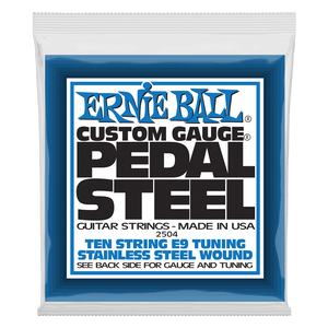 Ernie Ball Pedal Steel 10-String E9 Tuning Stainless Steel Wound Electric Guitar Strings EB2504