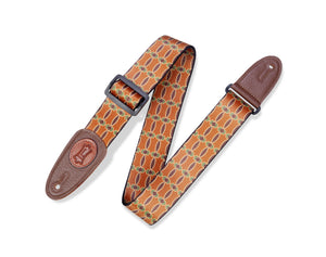 "MPLL-002 Levy's 2"" Print Guitar Strap on Polyester with Garment Leather Ends"